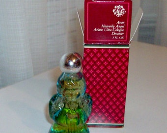 NEW 1981 Heavenly Angel Decanter with Cologne by Avon (code d)