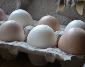 Farm Fresh Egg Soap - Brown and White Eggs - Half Dozen in Carton - Gift Set