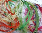 26pcs Cotton Wax Cord and Organza Ribbon with Lobster Clasps-Mixed Colors