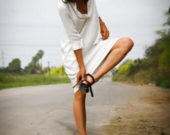 women's blouse in white-oversized  shirt-White dress tunic-White blouse-Summer tops- -white  dress - kurta galabeya
