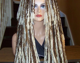 Yarn Wig, Dread Hairfalls, Wig, Yarn Wig, Dread Wig, Anime Wig, Cosplay, Fake Hair, Gothic, Blonde Wig, Brown Wig, Highlite Lowlite, Wigs
