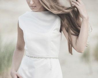 Thin Crystal Sash Belt, Bridal Belt, Bridal Sash Belt, Wedding Bridal Dress Belts Sashes