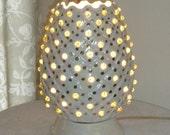 vintage TV lamp, retro lighting, ceramic lamp, Sixties handmade lamp, 12 inches