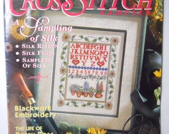 CROSS STITCH SAMPLER magazine,Shaker patterns, silk use in cross stitch