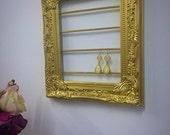Gold Baroque Earring Display, Jewelry Organizer, Earring Hanger, Jewelry Shop, Vanity Table