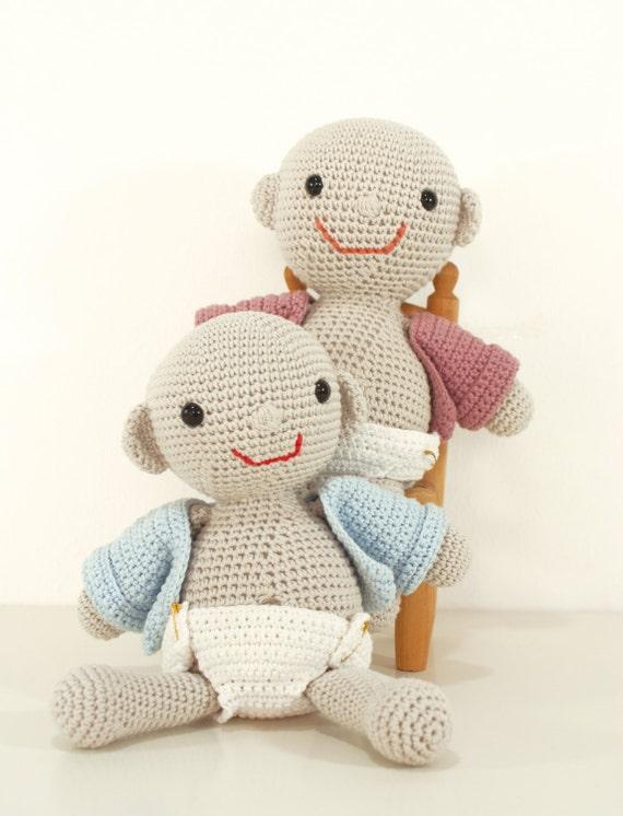Amigurumi Hello Kitty Crochet Pattern : Crochet pattern baby with nappy and coat amigurumi doll