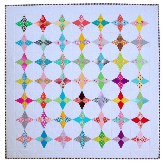 Hummingbirds Quilt - A Modern Patchwork Quilt