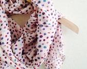 Pink Soft Circle Cotton Shawl Neckwarmer Fabric Scarf Shawl