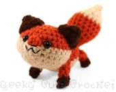Large Red Fox Amigurumi Crocheted Plush Toy Cute Stuffed Animal