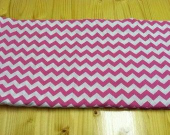 Chevron print fabric pink