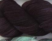 Jackalope hand dyed sock yarn fingering weight, 3ply superwash with nylon, 100g - Purple Domino 2