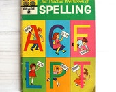Vintage 60s children book  - The Practice Workbook of Spelling Grade 2