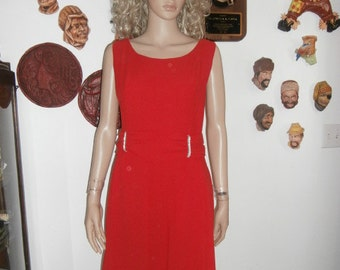 Womens Dress Formal Dress RED 50's  Women's  Red Rhinestone  Formal Women's  Dinner Dress