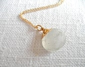 Moonstone necklace - gold necklace - moonstone and gold - A M E L I A 226