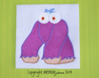 Monster 4, INSTANT DOWNLOAD, Embroidery Design for Machine Embroidery 4x4