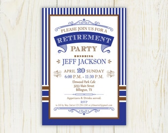 retirement party invitations  etsy, Party invitations
