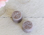 Rustic Ring Bearer Box Mr. and Mrs. (Item NF100006)