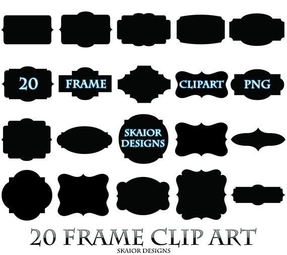Frame Clipart Black Frame Clip Art Digital Frame Square Label