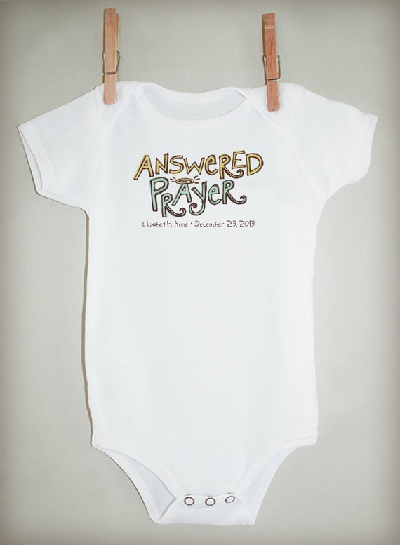 Answered Prayer - Personalized Bodysuit or Tee