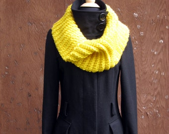 PDF CROCHET PATTERN, Chunky City Cowl, Ladies Infinity Scarf, Womens Circle Scarf, Bulky Round Scarf, Chunky Neck Warmer,  Instant Download