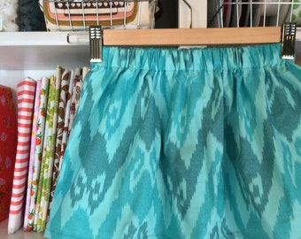 Ikat Skirt in Pond