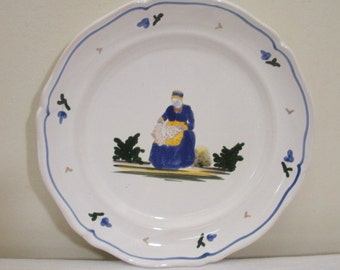 Vintage French Saint Radigonde Plate - France