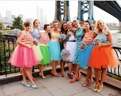 Custom Colors Bridesmaids Tulle Skirt Knee Length/Midi