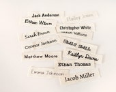 Organic Cotton Name Labels - sew on name tags (clothing labels) for children's clothing