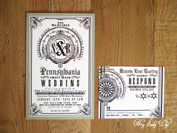 Jack Daniels Inspired Modern Wedding