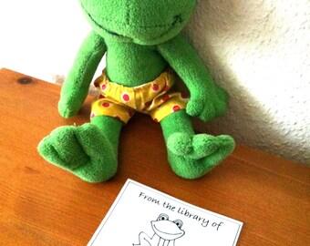 Ex Libris Frog 25 Personalized Bookplates Booklabels