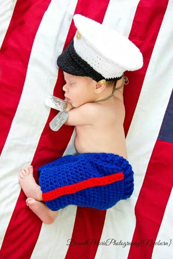 Marine baby clothes USMC baby hat and pants you pick the size colors Hobbyist License 11324