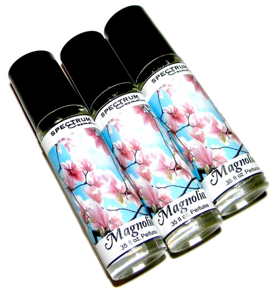 MAGNOLIA Perfume in a .35 fl oz. Glass Rollerball Bottle