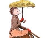 Hedgehog Rider Magnet