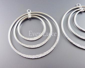 2 extravagant jewellery findings, large triple hoop rotating pendant 904-MR-1