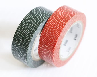 Japanese Washi Masking Tapes Traditional Japanese Pattern Red Blue Dots FAN