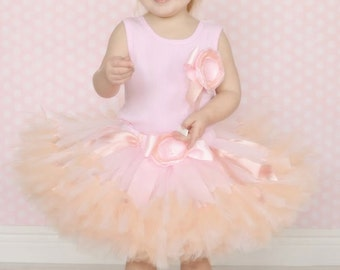 Birthday Tutu | 1st Birthday Tutu Dress | Baby Birthday Tutu | Cake Smash Tutu | Tutu Skirt | Peach Birthday Tutu | 1st Birthday Tutu