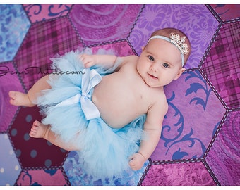 Blue Tutu | Baby Girls Tutu Skirt | Newborn Tutu