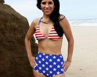 American flag retro swimsuit