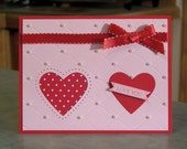 Valentines Day Card using Stampin Up Itty Bitty Banners
