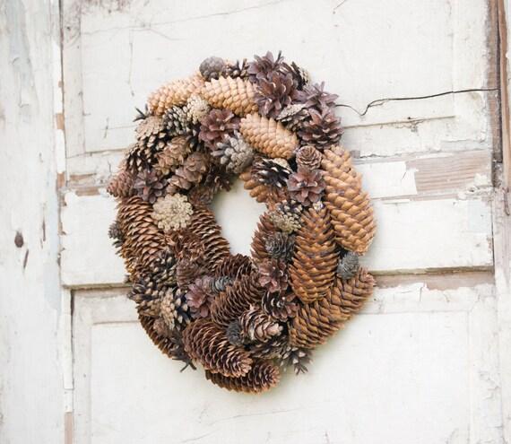 christmas wreath natural winter wreath front door decor pine. Black Bedroom Furniture Sets. Home Design Ideas
