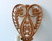 Modern Retro Faux Wicker Heart - Large Heart Wall Hanging by Burwood 1975