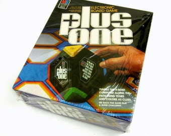 Milton Bradley Plus One Electronic Board Game 1980 / Sealed