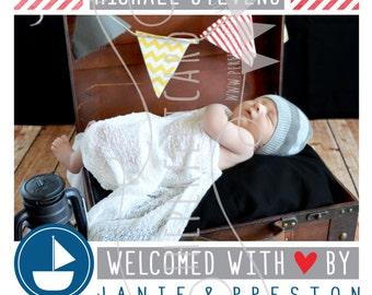 NEW Little Sailor Birth Announcement