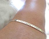 Silver Bar Bracelet, Marathon, Sterling Silver, Runners Bracelet, Marathon Jewelry, Running Bracelet, Skinny Bar Bracelet, Running mom