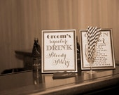 Custom Bride or Grooms signature Drink Sign, Personalized, Signature Cocktail, Featured Drink or Cocktail, Wedding Bar Signs DIY Digital