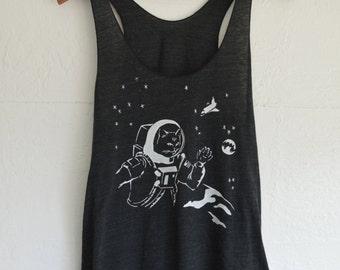 Astronaut Cat Tank Top