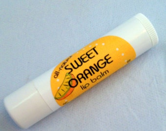 Sweet Orange Calendula Lip Balm- Healing Balm for Dry Lips-Natural Lip Balm