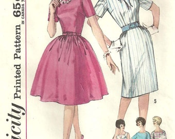 Simplicity 4257 / Vintage Womans Dress / Size 16 / Sewing Pattern
