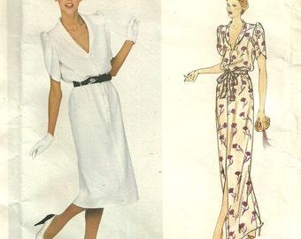 Vogue 2165 // Paris Original Vintage Designer Sewing Pattern by Givenchy // Dress Gown // Size 8