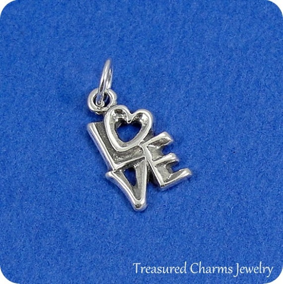 word charm sterling silver word charm for necklace